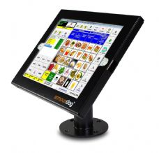 "armourdog® secure tablet POS kiosk with swivel mount for iPad Pro 12.9"" (gen 1 or 2) in black"